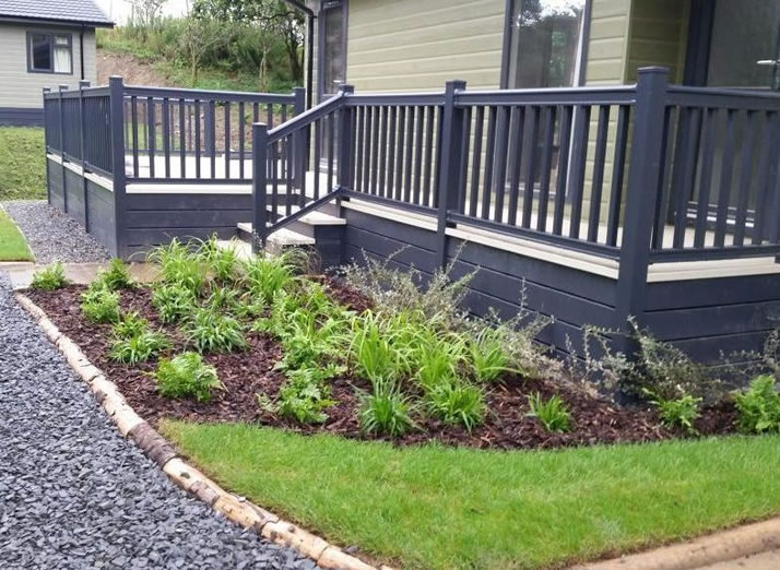 5 star planting scheme at luxury Lake District holiday resort