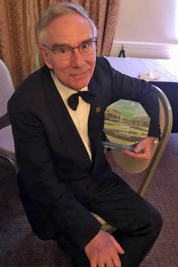 Our Chairman John has won a Lifetime of Achievement Award