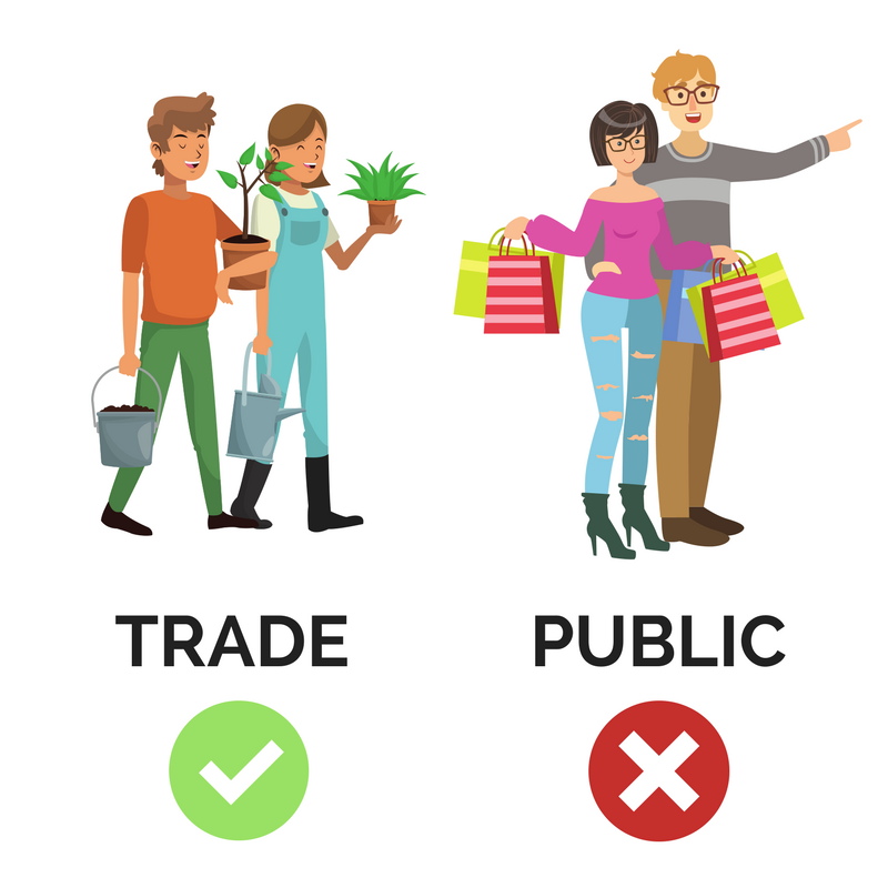 Trade sales and public sales – what's the difference?