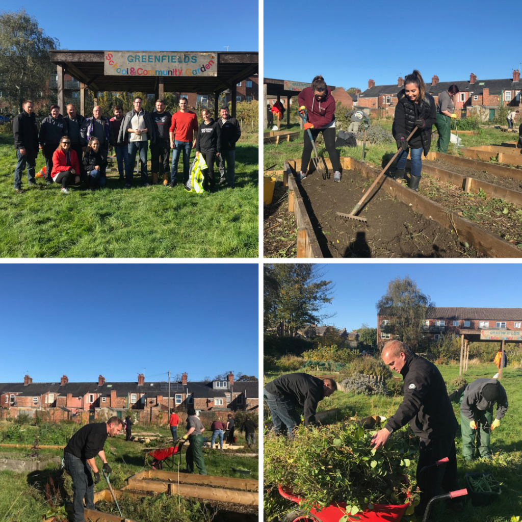Johnsons get green fingered for Greenfields community garden