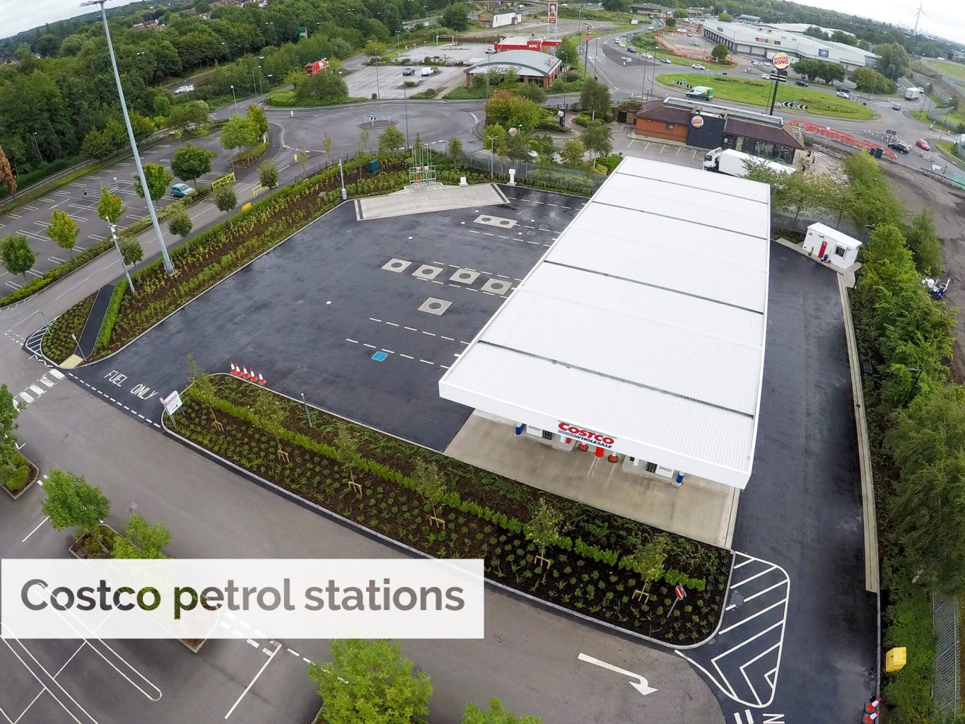 Working with SPA Landscaping to help Costco petrol stations bloom throughout the UK