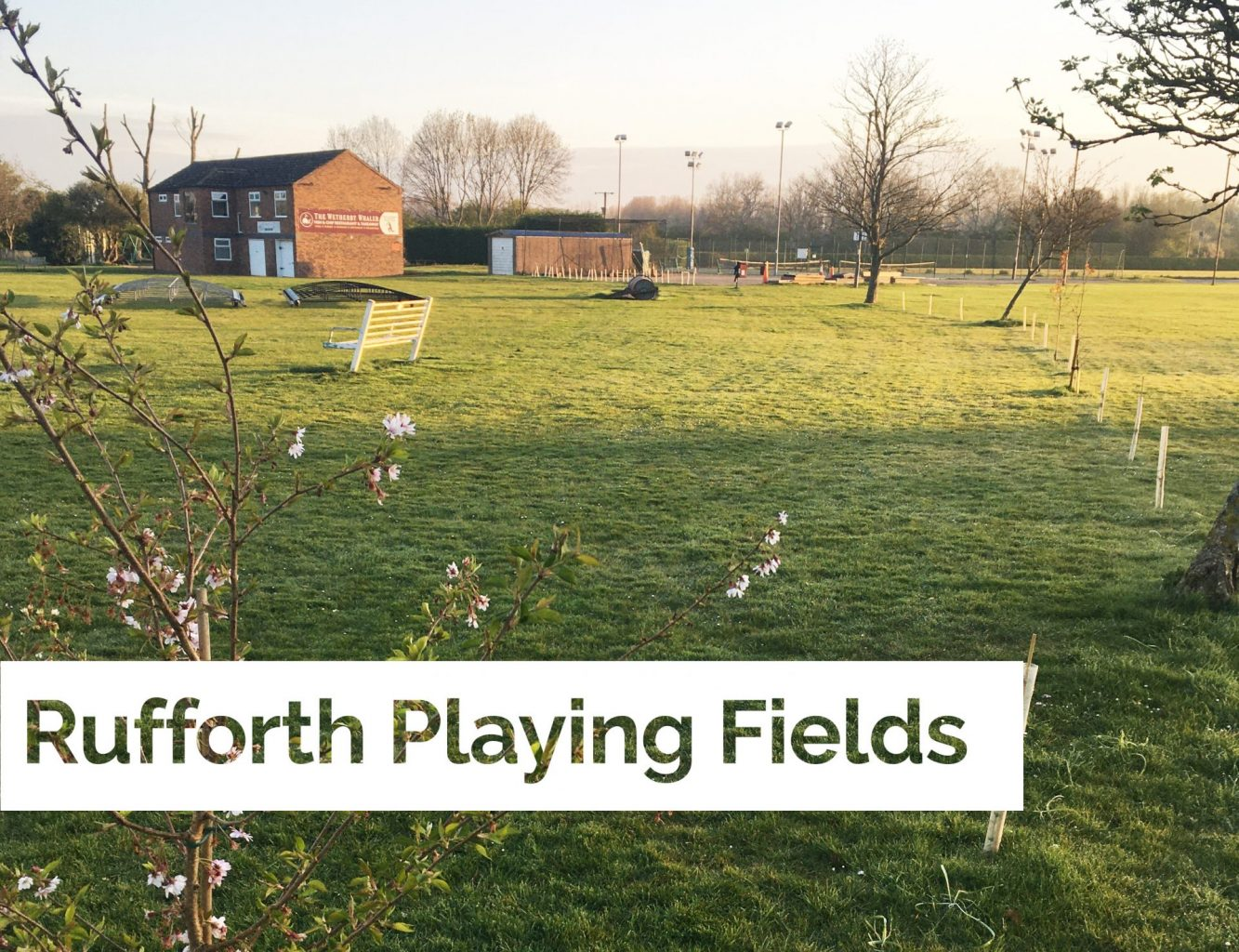 Helping to rejuvenate local playing fields and Caravan site