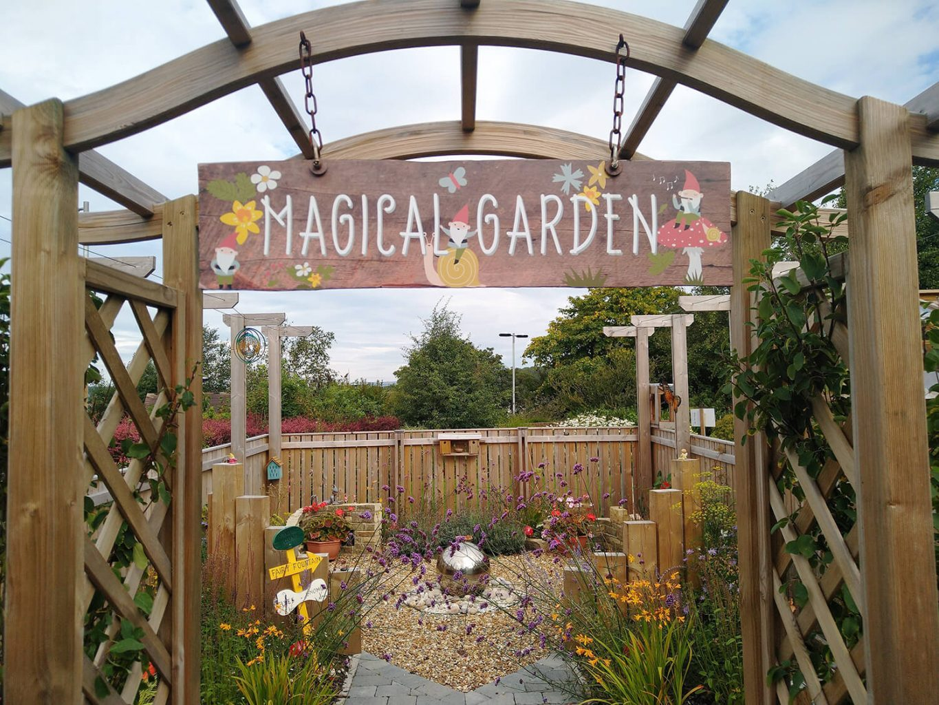 Plant donation for 'Magical Garden' at the Marie Curie Hospice in Bradford
