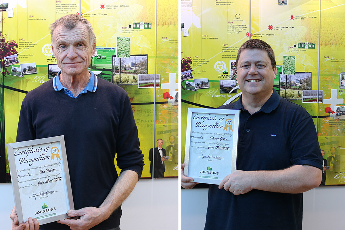 70 years service between two Johnsons employees