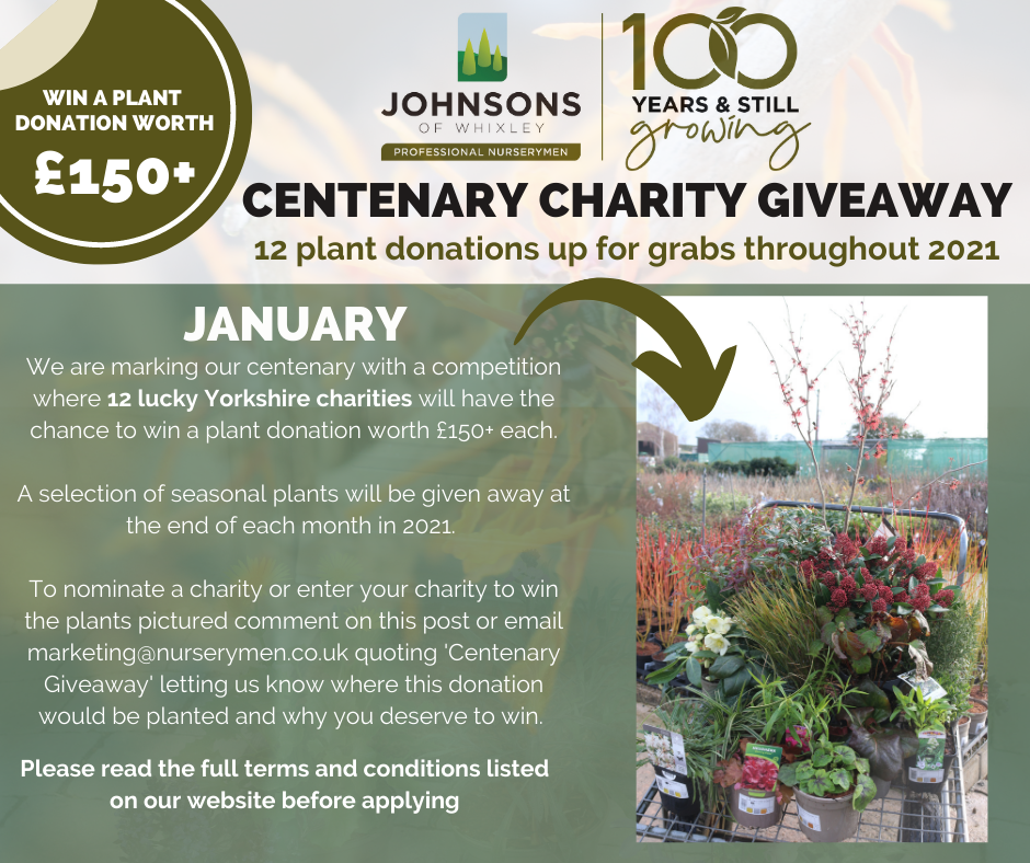 Centenary Charity Giveaway - January 2021