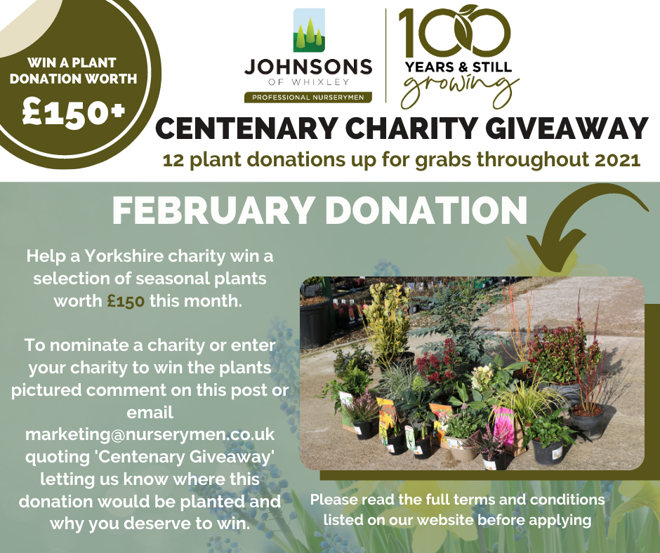 Centenary Charity Giveaway - February 2021