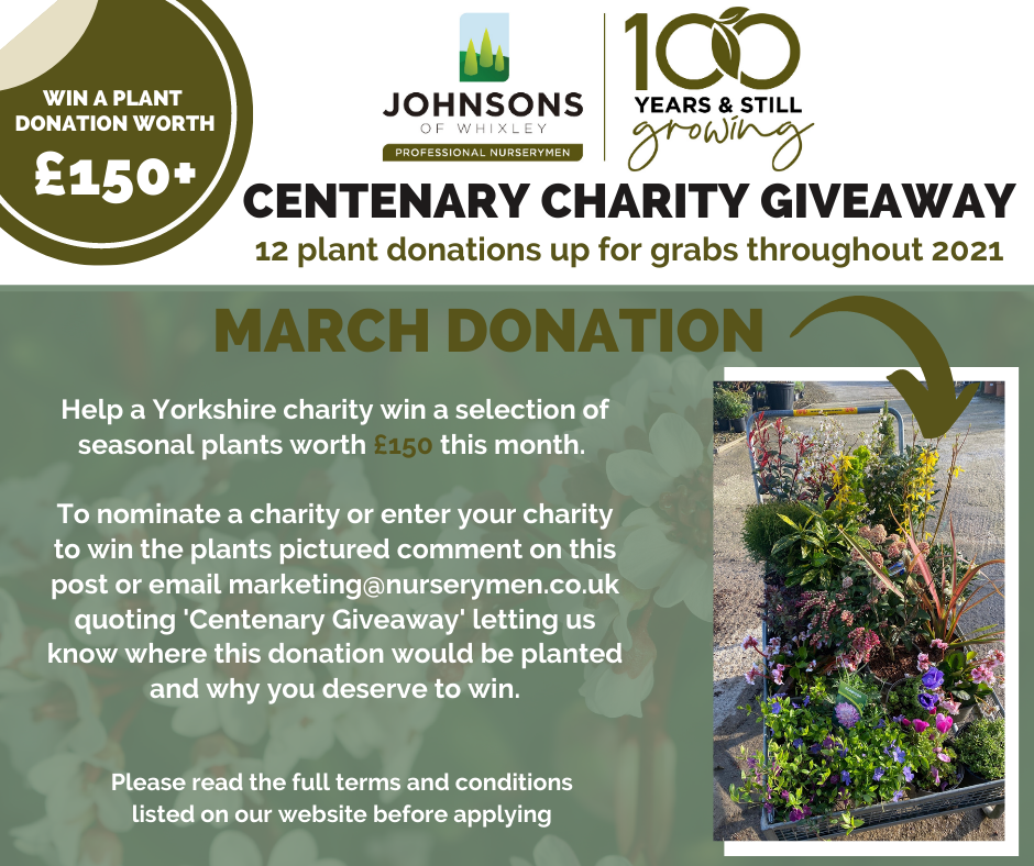 Centenary Charity Giveaway - March 2021