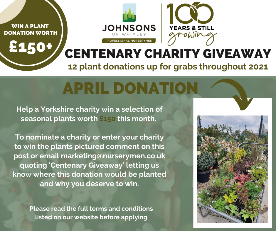 Centenary Charity Giveaway - April 2021