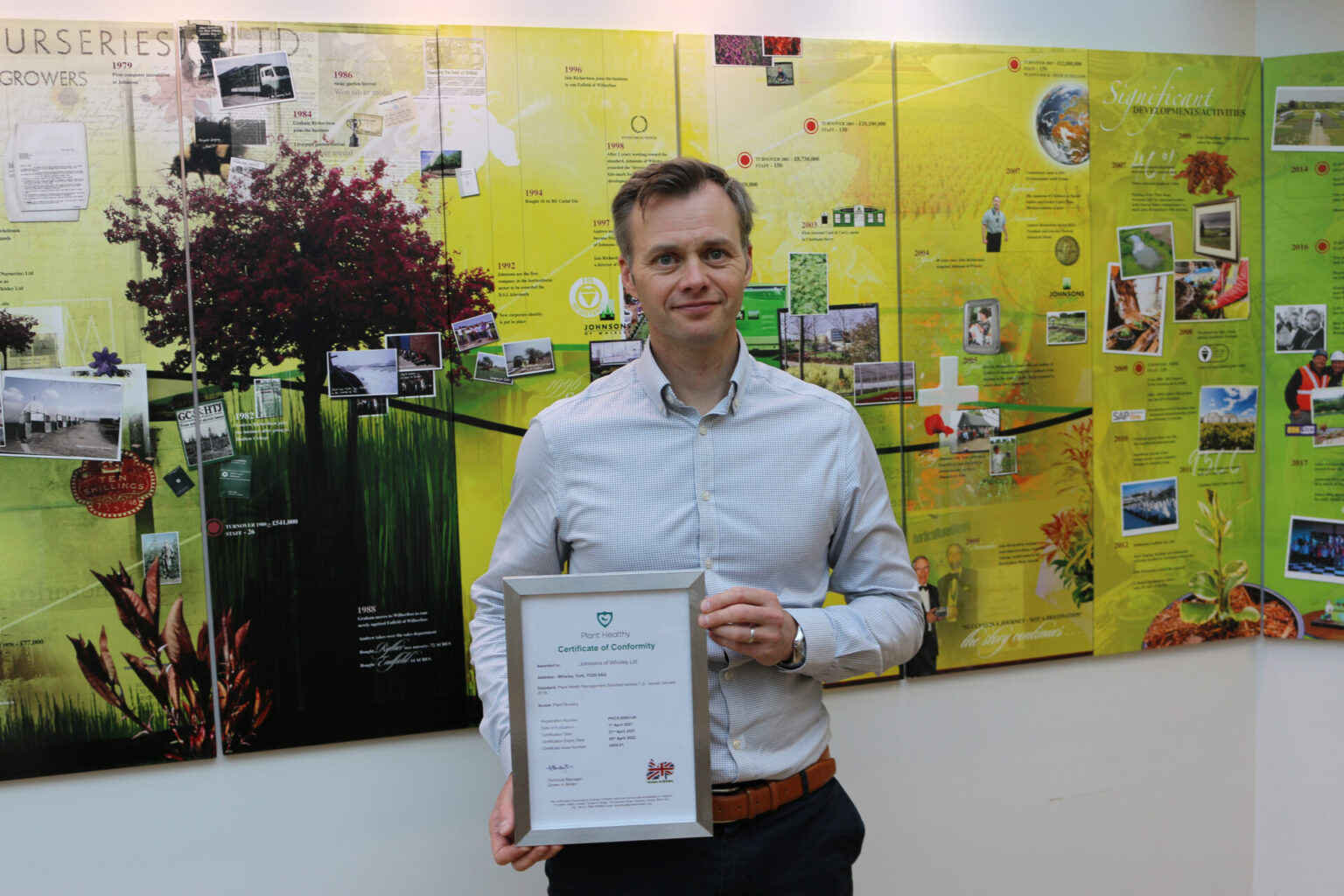 Johnsons receive Plant Healthy certification