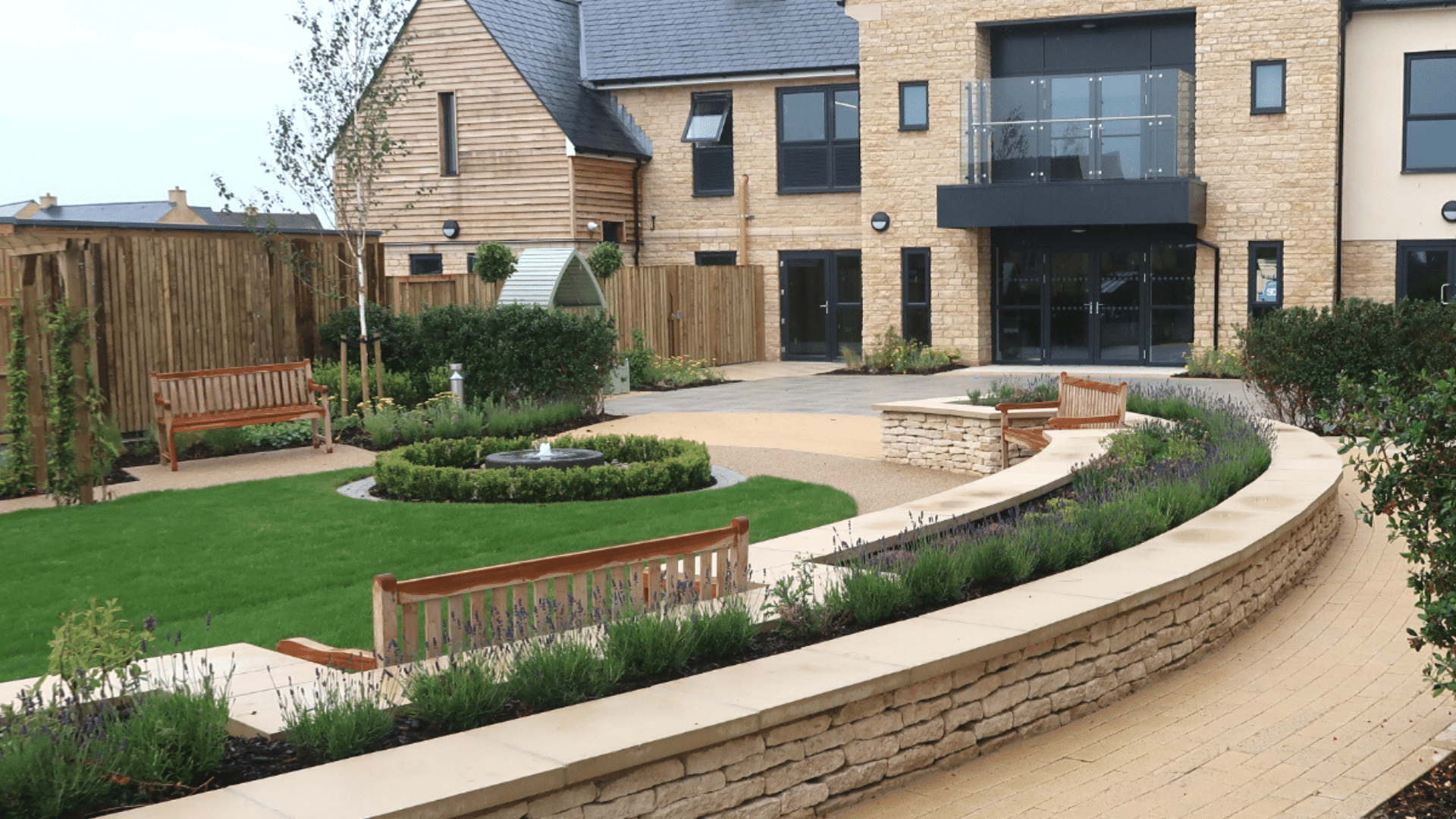 Plants supplied to enhance the grounds of a Cotswold care home