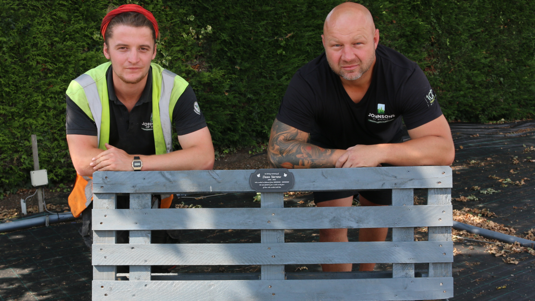 Memorial bench pays tribute to past employee
